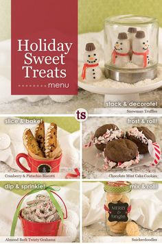 Looking for recipes to make for your cookie exchange this holiday season? Check out these fun and festive cookie and sweet treat ideas!