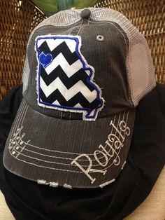 Kansas City Missouri Royals Baseball Trucker hat by Chasing Elly on Etsy