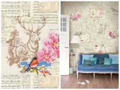Wallpaper with vintage feel from PIP studio