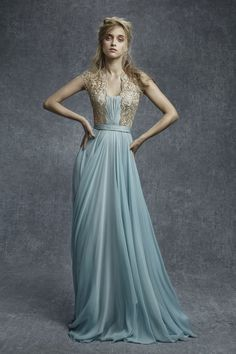 Reem Acra pre-fall 2015 embellished dress