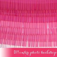 DIY ombre party photo backdrop