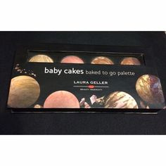 Laura Geller baby cakes baked to go palette This is a lightly swatched Laura Geller palette. It's called baby cakes baked to go pallete. It features 4 of her popular products and they're all the same amount of product: 0.042 oz/1.2 g each. It features from left to right: balance n brighten in medium, blush n brighten in pink buttercream, bronze n brighten in medium, and baked marble eyeshadow in Rome/Milan. Lightly used. Practically new. No box/no brush. Laura Geller Makeup Blush