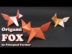 Origami FOX EASY - Yakomoga Simple instructions for origami - Origamieasy. Origami Design, Diy Origami, Origami Fox Easy, Chat Origami, Origami Ball, How To Make Origami, Origami Butterfly, Origami Folding, Paper Crafts Origami