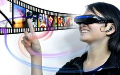 Mobile Theatre Video Glasses with Virtual Screen