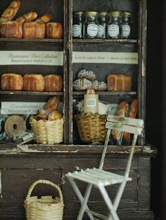 Nice to do display of kilner jars with the ingredients that go into your bread with handwritten labels