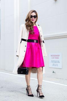 Outfit Ideas, Style Inspiration, Winter Fashion, Chanel Brooch, Chanel Mini Flap Bag, Aquazzura Amazon Pumps