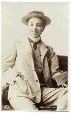 Vesta Tilley, male impersonator in the late Victorian and Edwardian periods, through WWI.