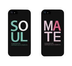 Amazon.com: Soul Mate Matching Couple Phone Cases for iphone 4, iphone 5, iphone 5C, iphone 6, iphone 6 plus, Galaxy S3, Galaxy S4, Galaxy S5, HTC M8, LG G3: Cell Phones & Accessories
