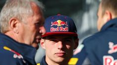 Max Verstappen (NED) Red Bull Racing and Dr Helmut Marko (AUT) Red Bull Motorsport Consultant at Formula One World Championship, Rd5, Spanish Grand Prix, Practice, Barcelona, Spain, Friday 13 May 2016. © Sutton Images