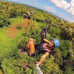 April 17, 2015  Zip lining over Hawaii with @taylorya! GoPro HERO4 | #zipline #hawaii #goprooftheday