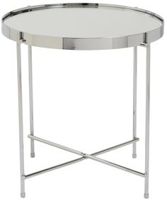 Sleek and vibrant, the Theo Side Table embraces a shiny finish and simple design. These details make this table a versatile addition to any home decor!