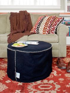 Ottoman created from large wire spool My DIY projects