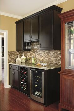 Dining Room Bar Cabinets New Aristokraft Cabinetry Traditional Home Bar Traditional Kitchen Cabinets In Bathroom, Kitchen Cabinetry, Bar Cabinets, Kitchen Nook, Kitchen Layout, Kitchen Gallery, Kitchen Photos, Kitchen Ideas, Pantry Ideas