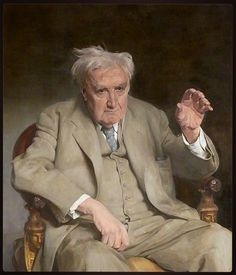 Ralph Vaughan Williams by Gerald Festus Kelly Glasgow Museums Date painted: 1959 Oil on canvas, x cm Collection: Glasgow Museums Figure Painting, Painting & Drawing, Glasgow Museum, Portrait Art, Portrait Paintings, Gentleman, Masters, Art Uk, Classical Music