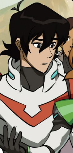 Keith staring at Pidge from the Voltron comics (issue 3 to be exact)