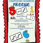 Help your students with composing numbers/addition - free!    If you like this workpage, check my TPT store for more domino compo...