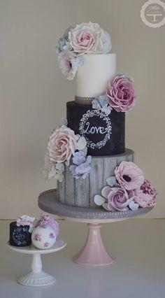 garden wedding cake
