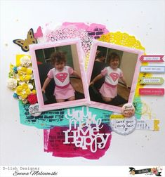 My Scrapbook, Scrapbook Layouts, Scrapbooking, Polaroid Film, Frame, Pictures, Design, Decor, House