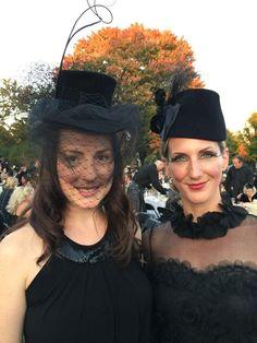 Vicki Heyman snaps the Saucy Milliner and Crystal Beshara at Harvest Noir 2014.