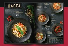 Creative Modern Menu Designs that Boost the Appeti Pizza Menu Design, Food Graphic Design, Food Menu Design, Restaurant Menu Design, Restaurant Identity, Restaurant Restaurant, Design Design, Menu Layout, Fast Food Places