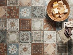 Ecological porcelain stoneware flooring MEMORY MOOD by @CeramicaPanaria  design Silvia Stanzani