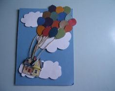 Disney's UP Over Sky and Clouds Decorative Pillow by foreverwars Disney Cards, Disney Up, Disney Theme, Paper Art, Paper Crafts, Card Crafts, Up Balloons, Cricut Cards, Sky And Clouds