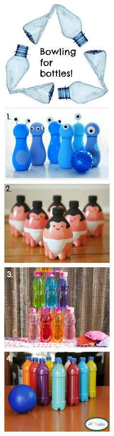 Bowled over by bottles... DIY bowling sets
