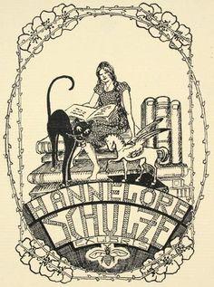 Elizabeth Voges, Ex Libris for Hannelore Schulze. Lithograph, c.1920.