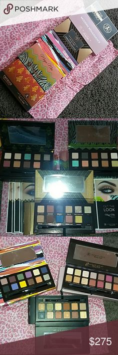 ABH limited edition palette bundle (6) All GUARENTEE 100% authentic!! I stand behind the authenticity if my products 100%! Feel free to read my hundreds of positive reviews and I'm also a top rated seller. I'm not a joke and I don't play games... period! The Tamanna, MR and Shadow Couture are all 100% new condition. The Mario, my nail knicked 'Hollywood, very tiny, the artist my nail knick Phresh, I'm clumsy sometimes and the same thing w Maya Mai and the blue color. I do have them…