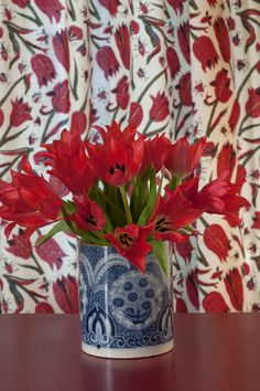 This whimsical print was derived from a piece of ancient fabric belonging to antique textile collector Karun Thakar. In reworking the pattern's scale we have ensured that the insects and butterflies can be clearly seen, meandering amongst the tulips. Tulips and Butterflies is printed on a Mutka Silk basecloth that reproduces the naturalistic details to wonderful effect. Indian Textiles, Tulips, Butterflies, Whimsical, Insects, Exotic, Scale, Organic, Inspire
