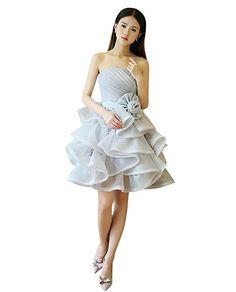 cd3f6586fcb76 DRASAWEE(JP)イブニングドレス ショート丈 ビスチェ レディースドレス ブライズメイド プリンセスドレス スリム. パーティードレスカクテル