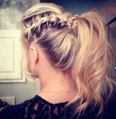 With the popularity of ponys, add braids to stand out from the rest