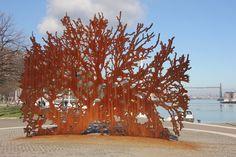 Basque Country, Public Art, Snow, Sculpture, Plants, Outdoor, Outdoors, Sculptures, Plant