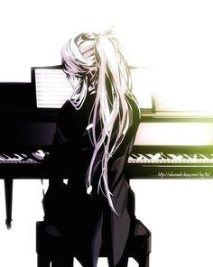 Undertaker and Piano Anime Manga, Manga Art, Manga Drawing, Anime Art, Piano Anime, Anime Music, Manga Girl Sad, Sad Girl Drawing, Drawing Piano