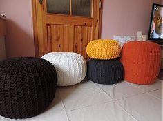 Úžitkový textil - Hnedý puf - 3167715