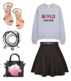 """""""Go stylish with Grey sweater"""" by cindyveronica on Polyvore featuring Elina Linardaki and Calvin Klein"""