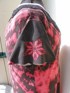 Tuniek met gehaakte hals eigen ontwerp 2009