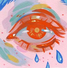 Colorful eye painting by artist Audra Auclair