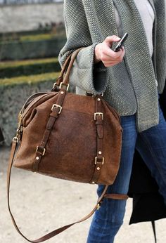 Jeans, tweed and tote