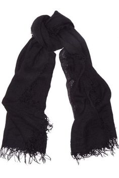 Chan Luu - Cashmere And Silk-blend Scarf - Black - one size