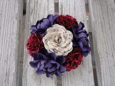 Paper Flower Centerpiece  Paper Peony Rose by PoshStudios on Etsy, $36.00