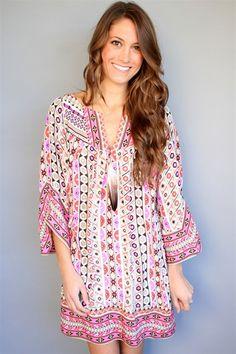 Alice & Trixie - Pink Print Julianna Dress... LOVE this boho glam tunic!