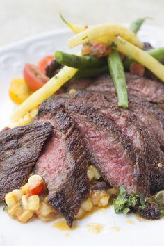 Marinated Flank Steak Recipe with soy sauce, red wine vinegar, lemon juice, Worcestershire sauce, Dijon mustard, garlic, and black pepper.