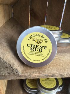 Chest Rub Made with Beeswax Olive oil Vitamin E Essential oils: Eucalyptus camphor & Birth Rub onto neck and chest to clear your head and soothe a cold.