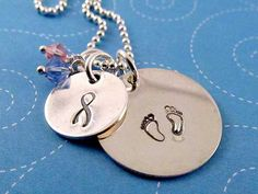 Pregnancy and Infant Loss Awareness Sterling by hopeofmyheart, $50.00 Unique Sympathy Gifts, Infant Loss Awareness, Pregnancy And Infant Loss, Baby Loss, Bereavement Gift, Washer Necklace, Angel, My Style, Unique Jewelry