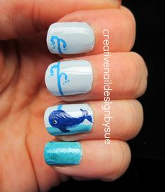 Creative Nail Design by Sue: Summer Challenge-Whales!