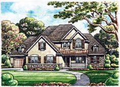 Elevation of European   House Plan 66567