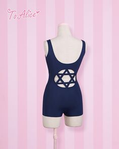 [To Alice] C997- hollow dead reservoir water behind hexagram Japanese school swimsuit swimsuit / have chest pad - Taobao