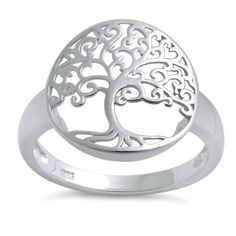 Sterling Silver Tree of Life Ring for Sale online. Dreamland Jewelry offers top quality Tree of Life Rings for men & women. White Gold Jewelry, Emerald Jewelry, Gold Jewellery, Jewelry Tree, Sea Glass Jewelry, Jewelry Rings, Key Jewelry, Sterling Silver Necklaces, Silver Earrings