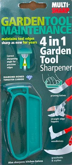 Multi -Sharp® 4 in 1 Garden Tool Sharpener